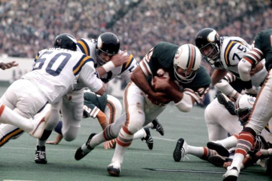 Larry Csonka still figures prominently in the nightmares of Viking defenders.