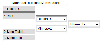 Frozen Four Northeast Region 2015