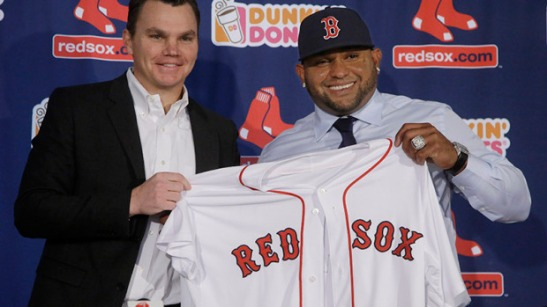 Pablo Sandoval...Sponsored By Dunkin' Donuts. You can't make that up[.
