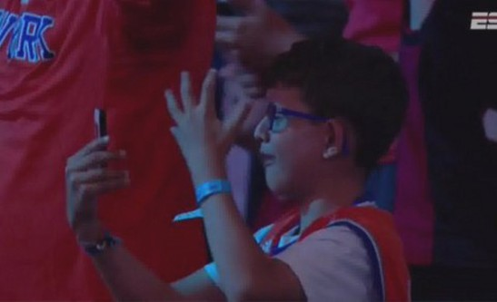 Crying Knicks Kid at Draft