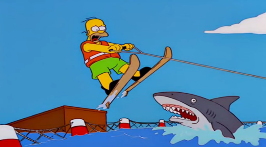 homer simpson jumping the shark
