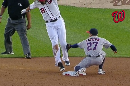 jayson werth getting tagged out