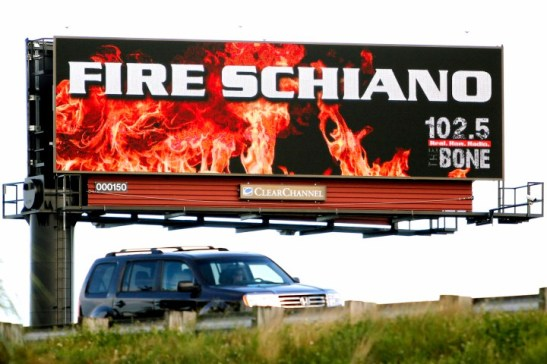 fire schiano billboard