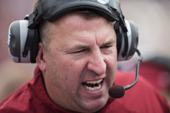 Bielema: Keep your hands away from his mouth while he's feeding.