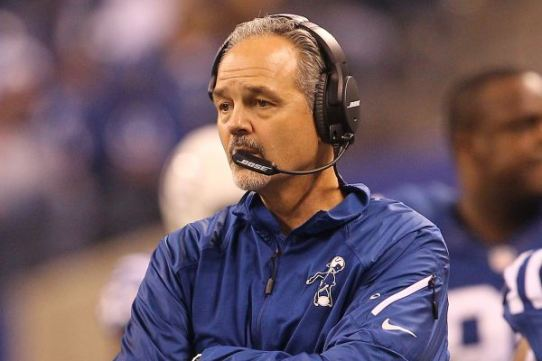 Above: Soon-to-be-former Indianapolis Colts head coach Chuck Pagano