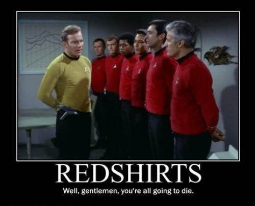 redshirts going to die