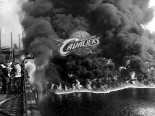 clevland cavaliers cuyahoga river fire