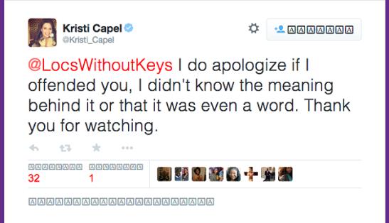 kristi capel tweet