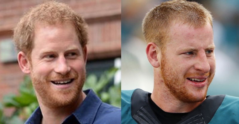 Prince Harry And Carson Wentz Side By Side >> Sports Doppelgangers, Volume 101: When a Prince Becomes a King | Dubsism