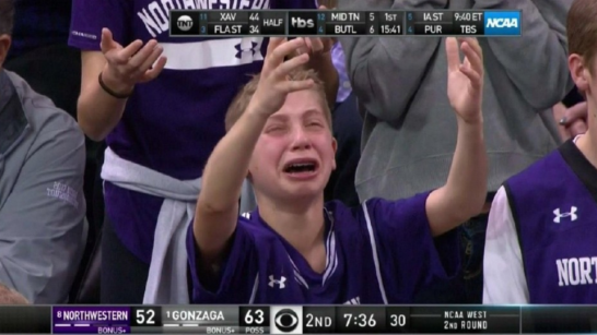 crying northwestern kid